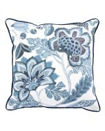 Mystical Flower Decorative Throw Pillow in Sapphire Blue - ON BACKORDER