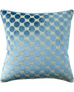 Octagon and Greek Key Design Square Decorative Pillow in Peacock Blue – Available in Two Sizes