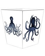 Octopus Decoupage Wastebasket and Optional Tissue Box Cover