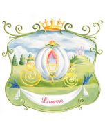 Personalized Princess Carriage Mural Wall Decal