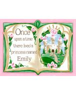Pink Once Upon a Time Storybook Mural Wall Decal