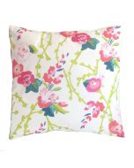 Pink Floral Square Pillow
