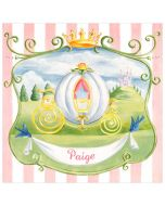Cinderellas Carriage Personalized Canvas Wall Art for Kids