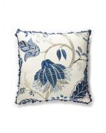 Scalamandre Palampore Embroidered Botanical Foliage Pillow - Available in Multiple Colors
