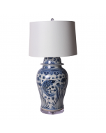 Blue and White Porcelain Fish Table Lamp