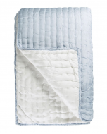 Powder Blue 100% Silk Luxury Lightweight Quilt With Cross Stitch Detail – Available in Two Sizes