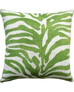 Serengeti Zebra Green Decorative Square Throw Pillow - Available in Two Sizes