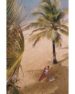 """Slim Aarons """"Caribe Hilton Beach"""" Print by Getty Images Gallery - Variety of Sizes Available"""