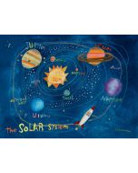 Solar System & Rocket Mural Wall Decal