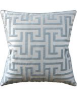 Geometric Velvet Robins Egg Decorative Cotton Pillow – Available in Three Sizes