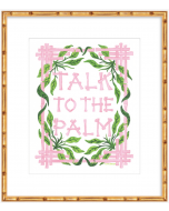 """""""Talk to the Palm"""" Pink and Green Art Print"""