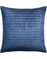 Tally Stripe Indigo Decorative Square Throw Pillow - Available in Two Sizes
