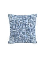 The Umbrella Swirl Pillow, Navy by Gray Malin, Available in a Variety of Sizes and Material