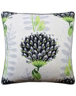 Tiverton Decorative Floral Throw Pillow in Black and Grey - Available in Two Sizes