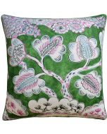Tree House Decorative Throw Pillow in Pink and Green - Available in Two Sizes