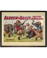 Vintage Circus Children's Wall Art With Size and Framing Options
