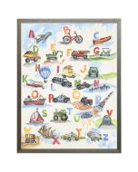Watercolor Transportation ABCs Wall Art with Size and Frame Options