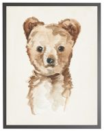 Watercolor Baby Cub Children's Wall Art With Size and Framing Options