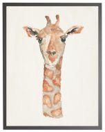 Watercolor Giraffe Children's Wall Art With Size and Framing Options