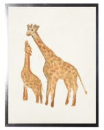 Watercolor Giraffes Children's Wall Art With Size and Framing Options