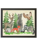 Woodland Animals Children's Watercolor Wall Art With Size and Framing Options