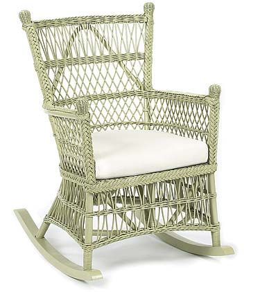 Beehive Wicker Rocker with Cushion in Variety Colors