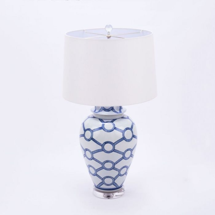 The Well Appointed House Luxuries For The Home The Well Appointed Home Blue And White Porcelain Crossing Circle Table Lamp,Baby Shower Flower Arrangements