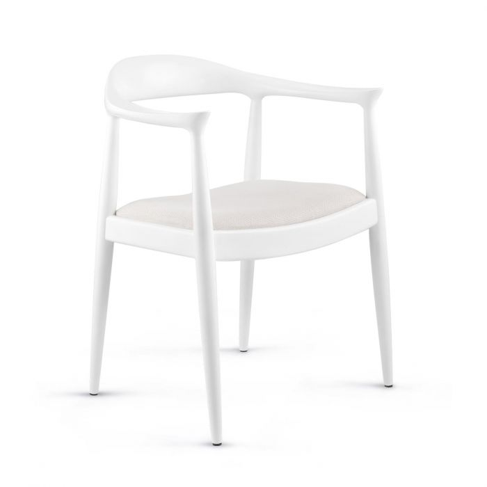Bungalow 5 Danish Armchair in White