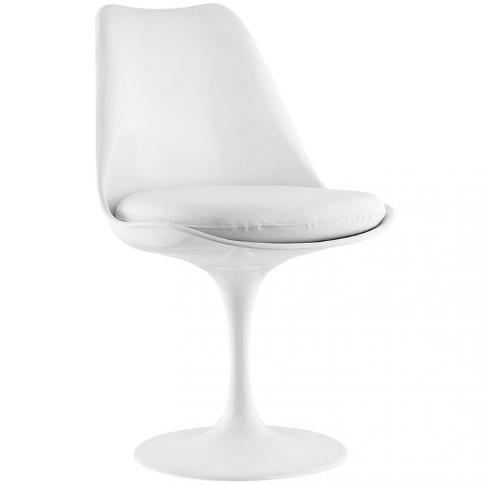 Dining Vinyl Side Chair in White