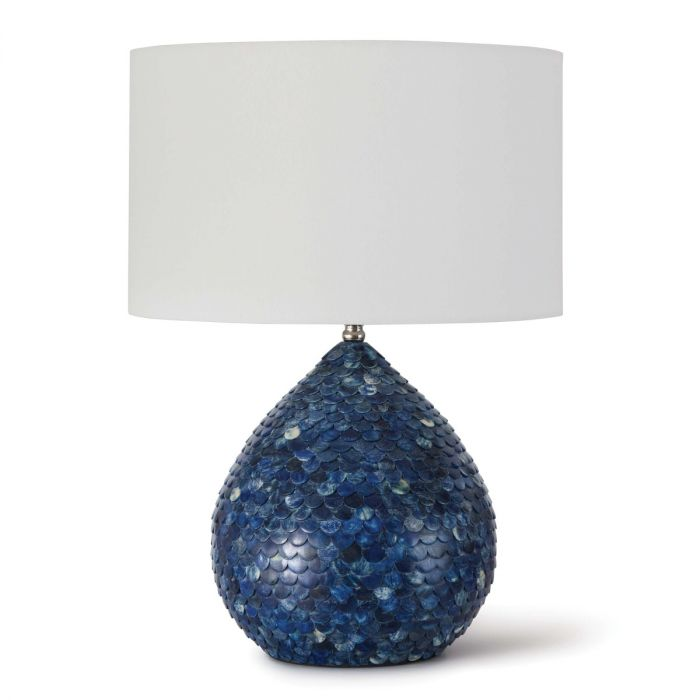The Well Appointed House Luxuries For The Home The Well Appointed Home Indigo Blue Scalloped Bone Table Lamp