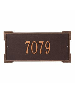 Personalized Wall Mounted Address Plaque - Antique Copper