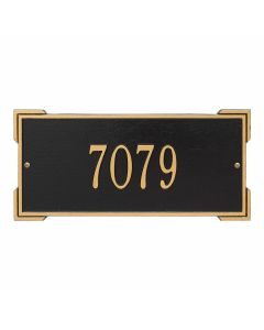 Personalized Wall Mounted Address Plaque - Black & Gold