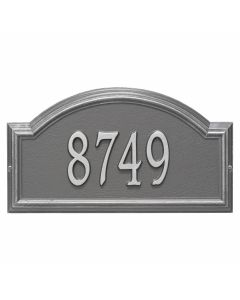 Personalized Arched Wall Mounted Address Plaque - Pewter & Silver