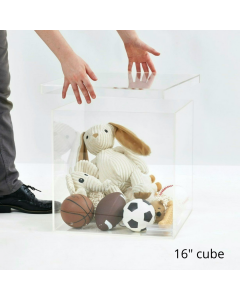 """16"""" Clear Storage Box with Separate Top"""
