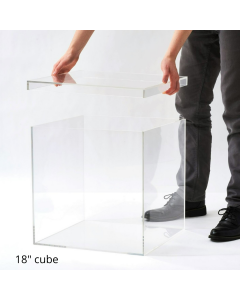 """18"""" Clear Storage Box with Separate Top"""