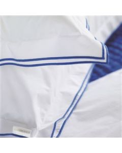 Blue and White Luxury 400 Thread Count 100% Cotton Bedding With Embroidered Detailing – Sham and Pillowcase