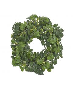 """24"""" Green Olive Faux Wreath"""