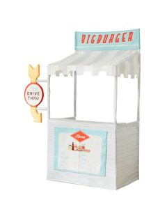 3-In-1 Interchangeable Play Stand For Kids - Drive Through, Bank, Lemonade Stand