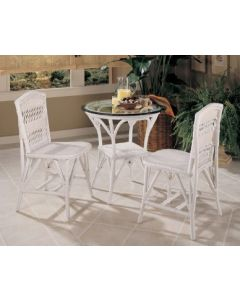 3 Piece Wicker Bistro Tea Set – Available in a Variety of Finishes