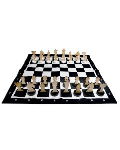 32 Piece Wooden Chess Set For Kids