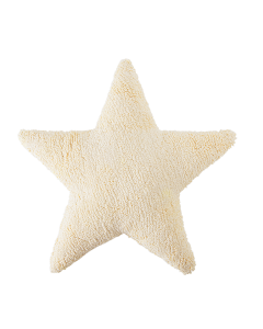 Washable Soft Vanilla/Yellow Star Children's Pillow - LOW STOCK - CALL TO CONFIRM AVAILABILITY