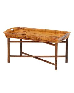 Tray Style Butler/Coffee Table with a Tortoise Matte Finish - ON BACKORDER UNTIL MID NOVEMBER 2021