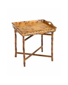 Tray Style End Table with a Tortoise Matte Finish - ON BACKORDER LATE OCTOBER 2021