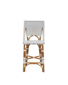 White Star Patterned Bistro Counter Chair