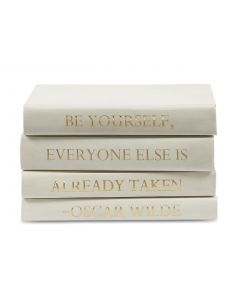 """""""Be Yourself, Everyone Else Is Already Taken"""" Oscar Wilde Quote 4 Volume Decorative Book Set"""