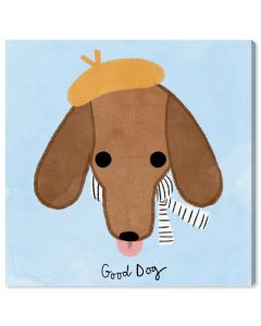 """""""Good Dachshund"""" French Dog Children's Wall Art - Variety of Sizes Available"""