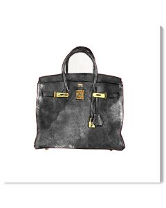 """""""My Lucky Bag"""" in Black Hermes-Inspired Fashion Canvas Wall Art"""