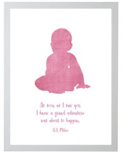 A.A. Milne Quote Children's Wall Art in Pink With Size and Framing Options