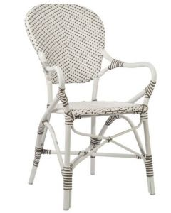 AluRattan™ Bistro Style Arm Chair - Available in Two Colors