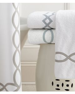 Leigh Tape Embroidered Trellis Bath Towels With Optional Monogram - Available in a Variety of Sizes, Colors and Designs